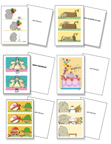 Cute Assorted Kids Birthday Card Pack Set Of 12 Cards Envelopes