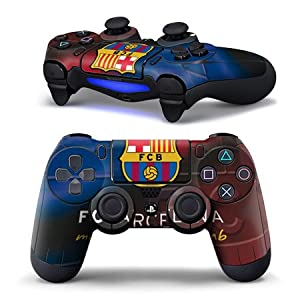 USPRO® PS 4 Controller Decal Sticker Delicate Fashionable Personal Resistant to scratch Non-slip surface for Playstation 4 Gamepad FC Barcelona