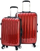 Olympia Luggage Dynasty 2 Piece Zipperless Aluminum Frame Hardcase Set