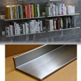 Stainless Steel Floating Wall Shelf Bookshelf with Concealed Wall Bracket