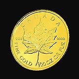メイプル金貨 1/20オンス カナダ王室造幣局発行 1.55gの金貨 純金 K24 保証書付き