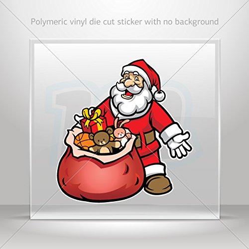 Decal Sticker Santa Claus With Gifts Motorbike Vehicle Weatherproof Garage ca (40 X 37.6 In)