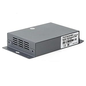 60W Gigabit Network PoE Extender, CENTROPOWER Ethernet Extender with 4 Port PoE+ Switch Support IEEE 802.3 af/at (Color: 4 Port-60W, Tamaño: 4 Port)