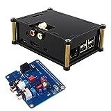 Kuman サウンドカード モジュール I2Sインターフェース PiFi Digi / DAC+ / HIFI デジタルオーディオカードピンボード raspberry pi 2、A +B 専用HIFI DiGi + デジタルサウンドカード I2S SPDIFケース付き Raspberry piに適用 3 2 Model B B +対応 SC08C