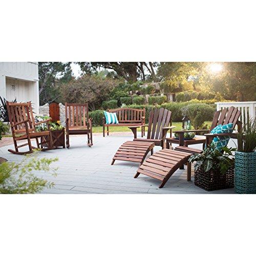 Belham living richmond curved back 4 ft outdoor wood for Outdoor furniture richmond va
