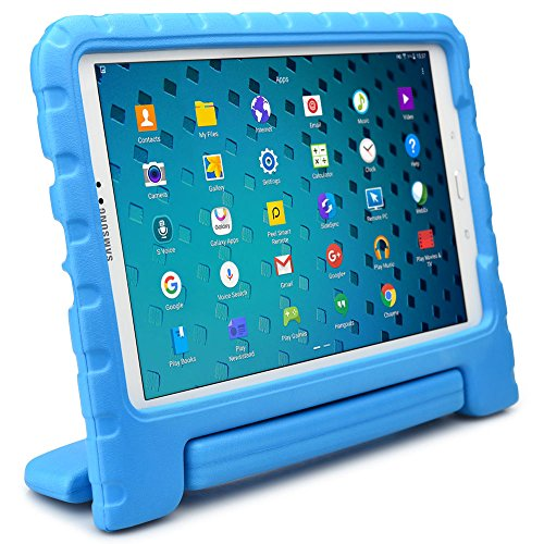 Samsung Galaxy Tab A 10.1 kids case, COOPER DYNAMO Rugged Heavy Duty Children's Boys Girls Toy Drop Proof Protective Carry Case Cover Handle, Stand, Screen Protector SM-T580 T585 P580 P585 Blue (Old Book Case For Samsung Tablet compare prices)