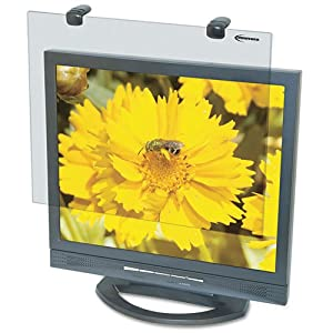 Protective Antiglare LCD Monitor Filter, Fits 15'' LCD Monitors