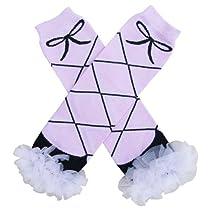 Chiffon Pink & Black Ballet - Tutu Ruffle Leg Warmers for Baby, Toddler, Girls