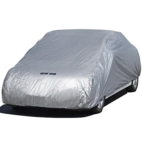 Motor Trend All Season WeatherWear 1-Poly Layer Snow proof, Water Resistant Car Cover Size XL1 - Fits up to 210