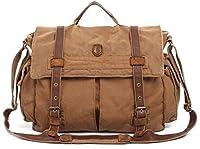 Military Vintage Laptop Canvas Leather Messenger Bag - Serbags Brand