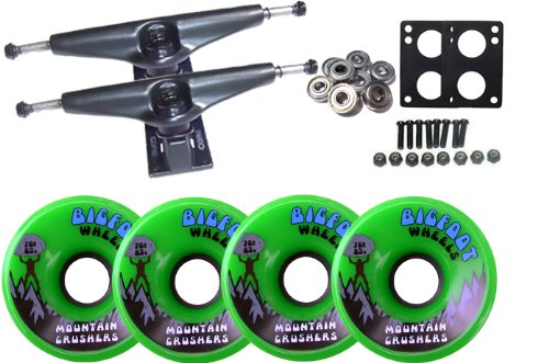 LONGBOARD Pack CORE 7.0 TRUCKS BIGFOOT WHEELS 76mm 83A GREEN CRUSHERS