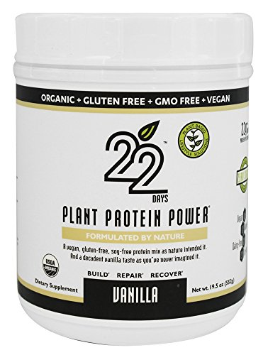 22 Days Plant Protein Power Vanilla, 19.5 Ounce