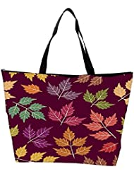 Snoogg A Seamless Pattern With Leaf Waterproof Bag Made Of High Strength Nylon - B01I1KJTF2