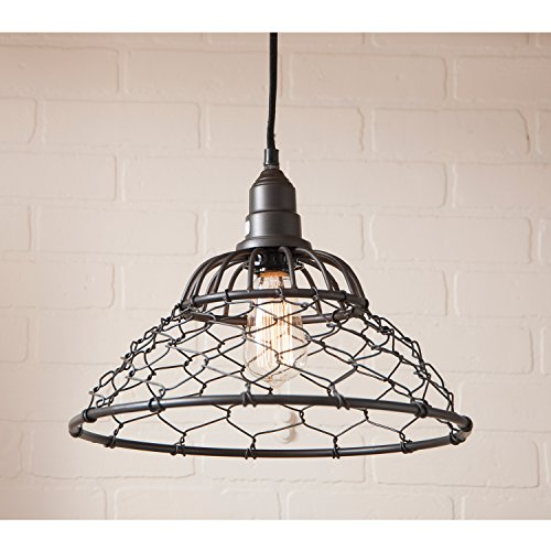 Loft Chicken Wire Cage Pendant in Smokey Black (Chicken Loft compare prices)
