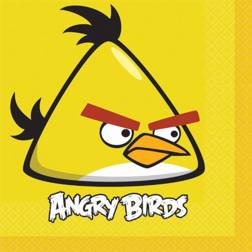 Angry Birds Lunch Napkins (16) Birthday Party Supplies