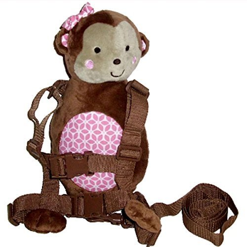 Carter's Child of Mine 2-in-1 Harness Buddy Bear with pink! - 1