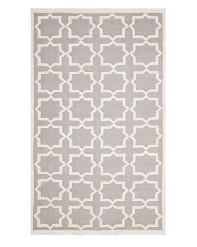 Safavieh Dhurrie Rug  [Grey/Ivory]