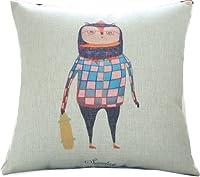 "Yamimi gentleman owl Linen Cloth Pillow Cover Cushion Case 18""£¬Q207 from Yamimi"