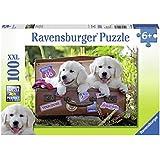 Ravensburger Puzzles Travelling Pups, Multi Color (100 Pieces)
