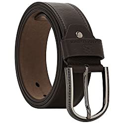 Comfort Zone India Dark Brown Textured Men's Belt