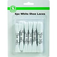 Do it Best Global Sourcing KS068 Shoe Laces - Smart Savers-6PC WHITE SHOE LACES