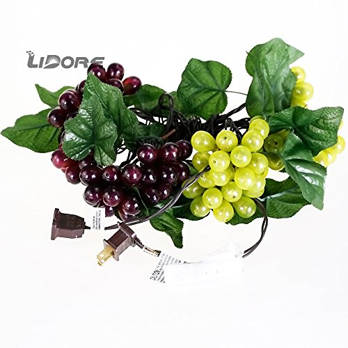 Led Grape Cluster String Lights : LIDORE 100 LED Purple&Green Grape String Lights. Grapevine Lights with 10 Cluster-UL listed Food ...