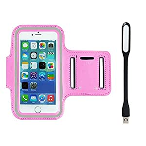New Hot (4.7) Arm Band Workout Cover Sport Gym Case For Good One Honor U9 With USB Led Light