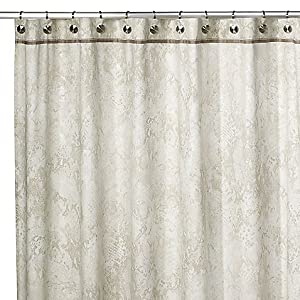 Kenneth Cole Python Metallic Grey Gold Silver Shower Curtain