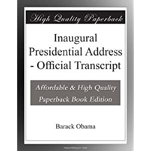 Inaugural Presidential Address - Official Transcript
