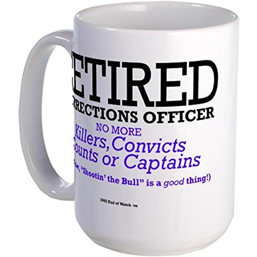 CafePress - Retired Corrections Officer Mug - Coffee Mug, Large 15 oz. White Coffee Cup (Corrections Officer Coffee Cup compare prices)