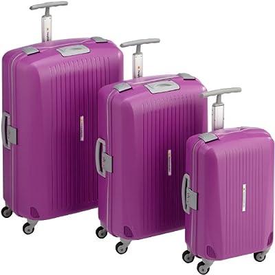 HAUPTSTADTKOFFER® · Three-piece hard-side suitcase Set PURPLE mat · cabin luggage 43 liter + suitcase 87 liter + suitcase 130 liter · TSA combination lock from Hauptstadtkoffer®