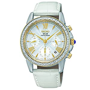 Seiko Women's SSC878 Analog Display Japanese Quartz White Watch