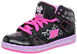 Skechers Girls / Kids Cherished; Twinkle Toes, Leather Fashion High Tops Trainers / Sneakers with Lace Up Front - 80946L