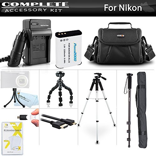 Advanced Accessory Kit For Nikon COOLPIX B700 P900 P610 P600 Digital Camera Includes Extended (2200mAh) Replacement EN-EL23 Battery + Charger + Case + Micro HDMI Cable + 57 Tripod + 67 Monopod +++  available at amazon for Rs.7199