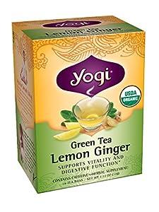 Yogi Lemon Ginger Green Tea, 16 Tea Bags (Pack of 6)