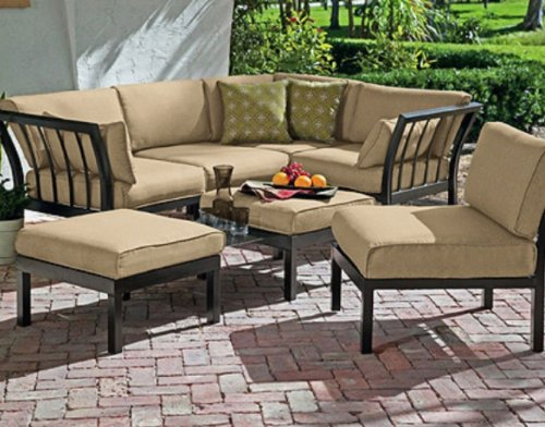 Outdoor Patio Sectional 7-Piece Stylish Furniture