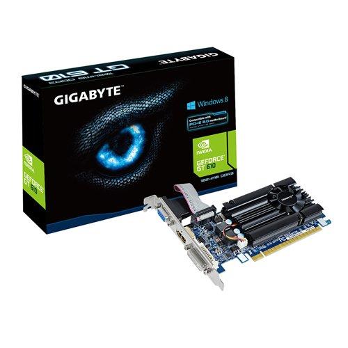 Gigabyte GT610 NVIDIA Grafikkarte (PCI-e, 1GB, GDDR3 Speicher, DVI, 1 GPU)