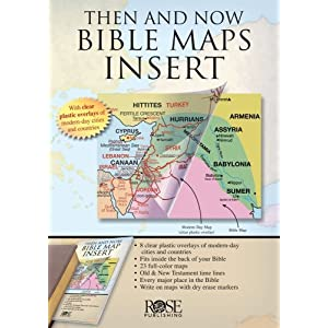 Then and Now Bible Map Insert - Ultra-thin atlas fits in the back of your Bible Rose Publishing