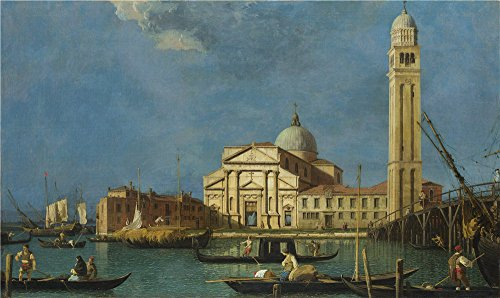 Oil Painting 'Studio Of Canaletto Venice S. Pietro In Castello' 24 x 40 inch / 61 x 102 cm ,