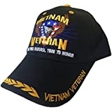 Buy Caps and Hats Vietnam Veteran Time Served Honor Wreaths Mens One Size Black