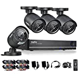 [Crazy Deals] Sannce 8CH 960H DVR/1080P Onvif NVR Security Camera System with 4x 800TVL Superior Night Vision IR Cut Leds Outdoor CCTV Camera (Full 960H