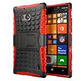 Hyperion Nokia Lumia Icon 929 Windows Phone Explorer Hybrid Case (Compatible with Verizon Nokia Lumia Icon 929) **2 Year No Hassle Warranty** [Hyperion Retail Packaging] (RED)