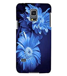 ColourCraft Beautiful Flowers Design Back Case Cover for SAMSUNG GALAXY S5 MINI