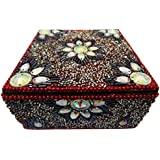 Decorative Box Indian Handmade Lac Beaded Material Vintage Style Antique Pill Box Home Decor Table Top Jewellery...