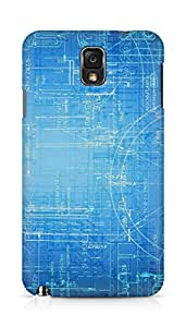 Amez designer printed 3d premium high quality back case cover for Samsung Galaxy Note 3 (Brainstorming abstract)