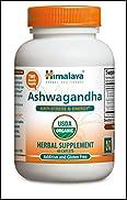 Himalaya Organic Ashwagandha 60 Caplets for Anti-Stress and Energy 670mg
