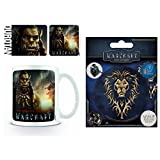 Set: Warcraft, Durotan Photo Coffee Mug (4x3 inches) And 1 Warcraft, Sticker Adhesive Decal (5x4 inches)