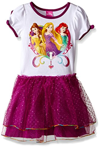 Disney Girls' Princesses Short Sleeve Tutu Dress