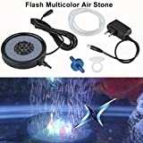 Floureon 18LED Aquarium LED Bubble Air Stone for Aquariums, fish tanks, pools (Multicolor)