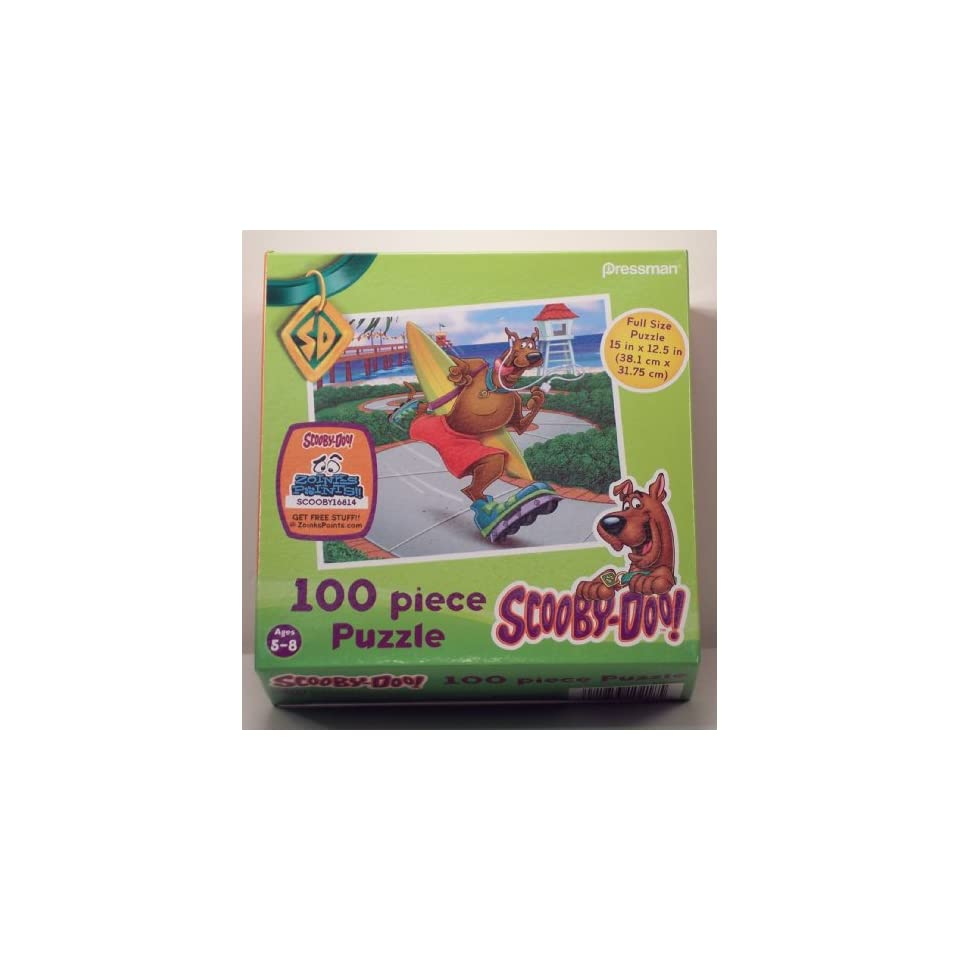 Scooby Doo Scooby Rollerblading at the Beach 100 piece puzzle
